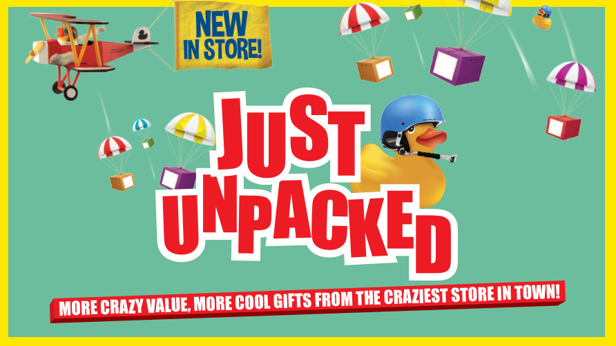 The Crazy Store has 'Just Unpacked' new items for you