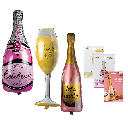 Champagne Helium Foil Balloons