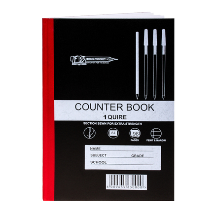 Hard Cover A4 Counter Book