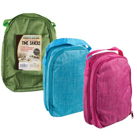 Insulated Double Lunch Bag