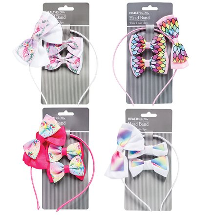 Unicorn Bows & Alice Band Set