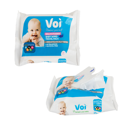 Voi Scented Wet-Wipes,H/Comb Pattern