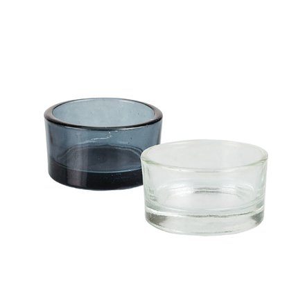 Round Glass Tea Light Candle Holder