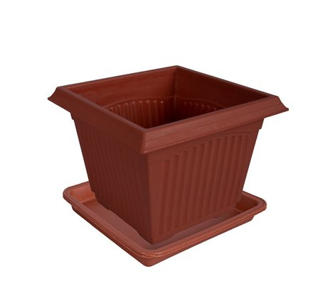 Square Planter with Tray