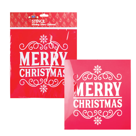 Christmas Stationery Stencil