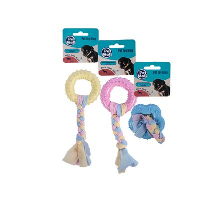 Puppy Toy Ring with Cotton