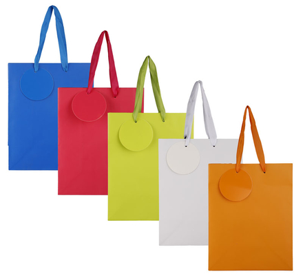 Medium Solid Colour Gift Bag