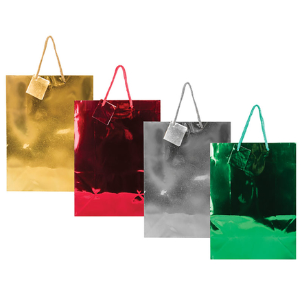 Large Metallic Gift Bag, Solid Colours
