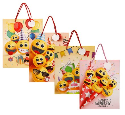 Emoji Gift Bag With Glitter Large