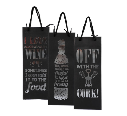Paper Wine Bag With Wording