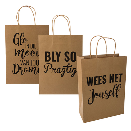 Gift Bag With Afrikaans Wording