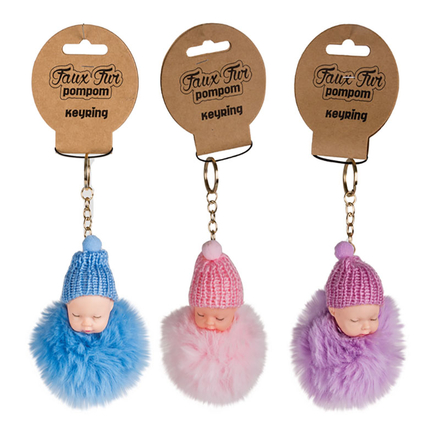 Faux Fur Baby Key Chain