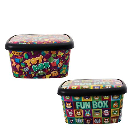 Decorated Plastic Storage Box