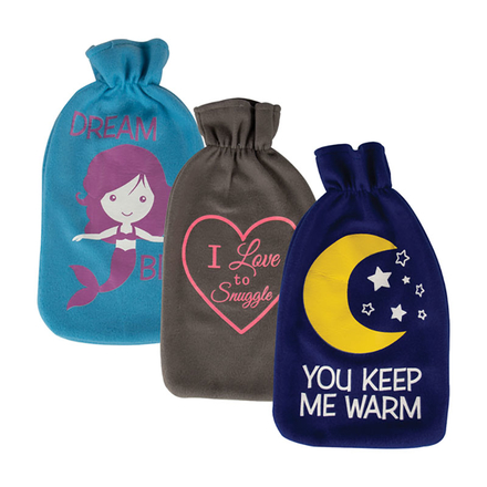 Hot Water Bottle With Glow In Dark Cover