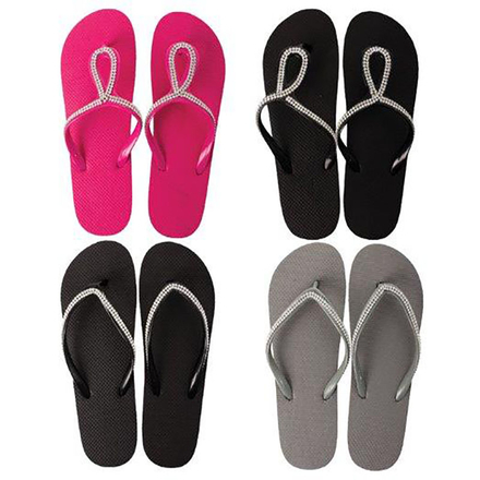 Ladies Bling Flip Flops Size 5