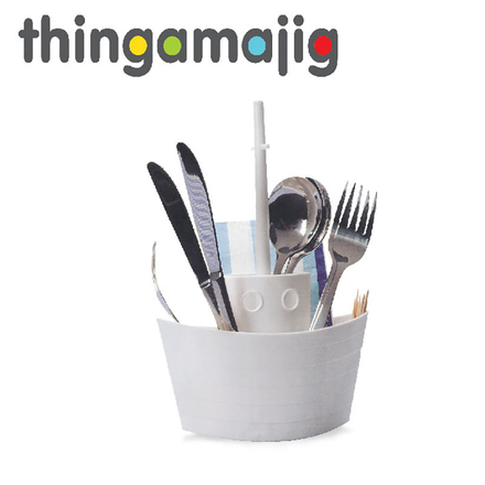 Thingamajig Plastic Cutlery Boat