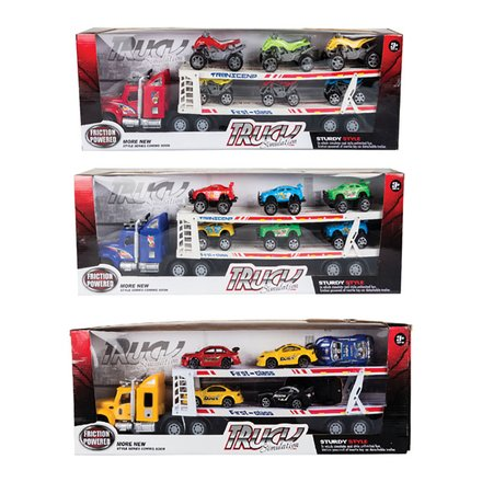 Friction Truck & Trailor With 6 Cars