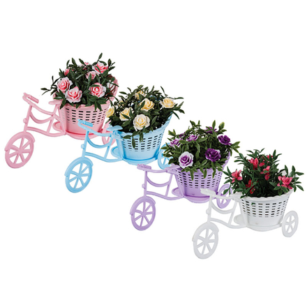 Artificial Flower In Tricycle Pot