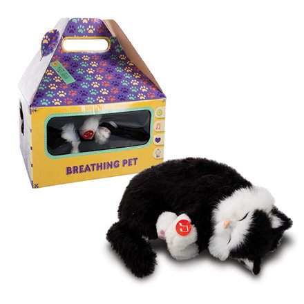Breathing Battery Operated Cat