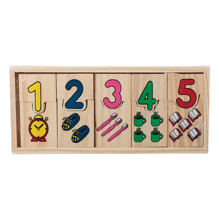Educational Wooden Numbers Connect