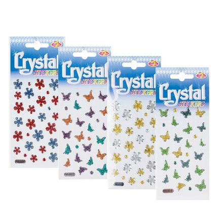 Glitter Shapes Crystal Stickers