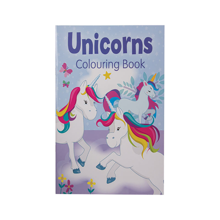 Unicorns Colouring Book (Purple)