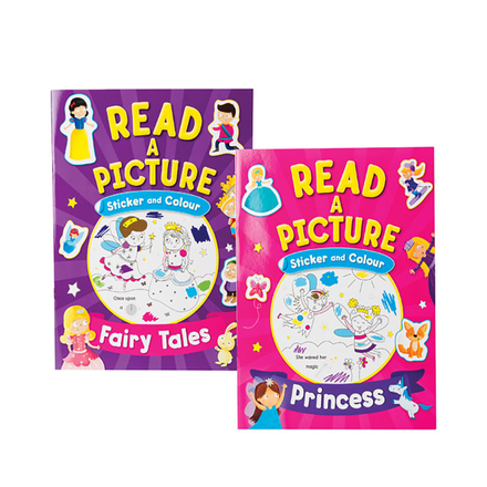 Read And Colour Sticker Book