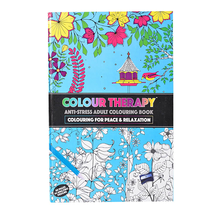 Colouring Therapy A4 Hardcover 88 Page