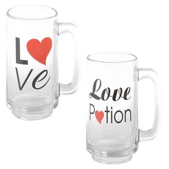 Beer Glass With Love Decals