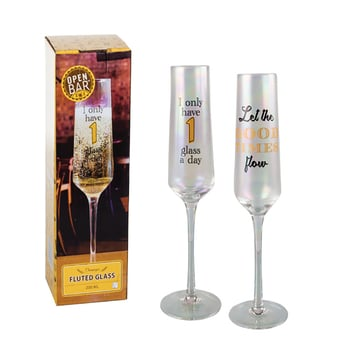 Champagne Glass With Decal
