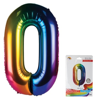 Rainbow Helium Balloon