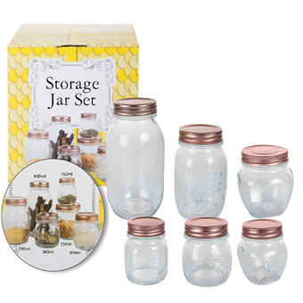 Glass Storage Jar Set