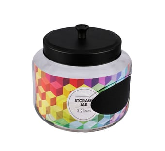 Glass Storage Jar With Label