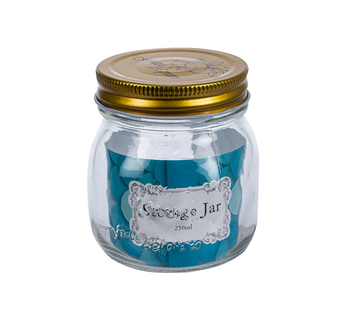 Embossed Glass Storage Jar