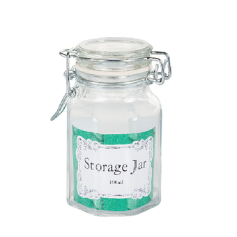 Glass Storage Jar With Clip-On Lid