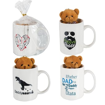 Dad Themed Mug With Bear