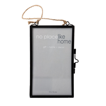 Glass Picture Frame With Hanging Rope