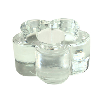 Glass Daisy Candle Holder
