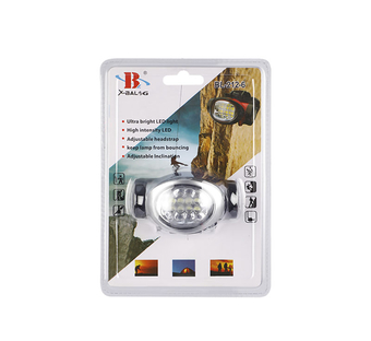 8 Plus 2 Red Led Head Lamp