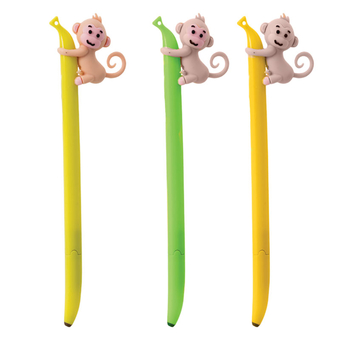 Novelty Single Pen Banana Monkey
