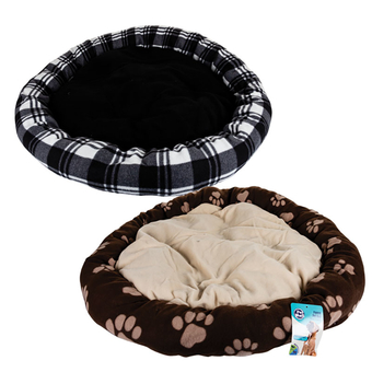 Round Fleece Pet Bed