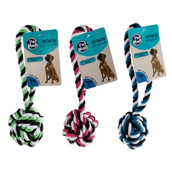 Dog Tug Rope Ball Toy
