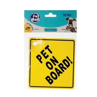 Pet On Board Sign