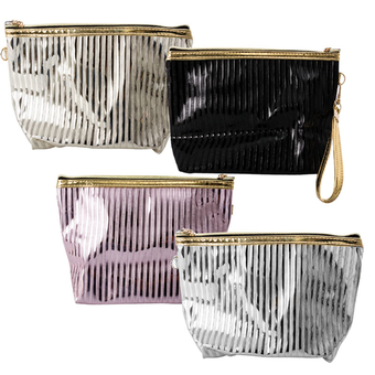 Metalic Stripes Cosmetic Bag