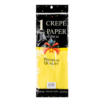 Crepe Paper Yellow