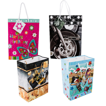 Medium Gift Bag With Pop-Up Stars