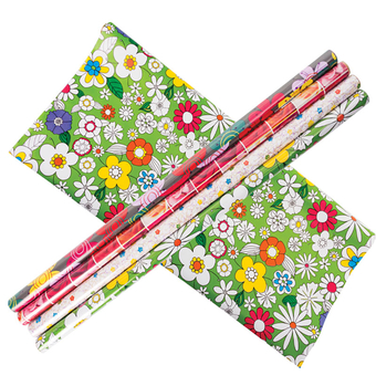 Gift Wrap, Floral Designs