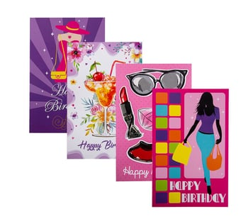 Female Birthday Card & Envelope