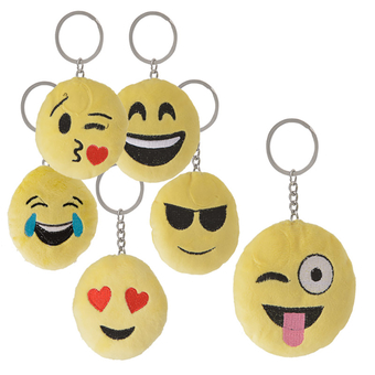Plush Emoticon Keychain