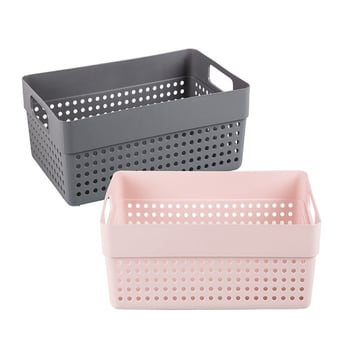 Plastic Basket With Carry Handles